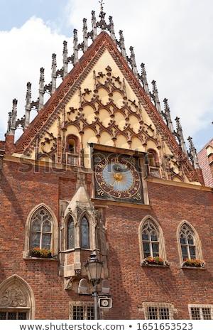 town hall on main market square wroclaw silesia poland stock photo © phbcz