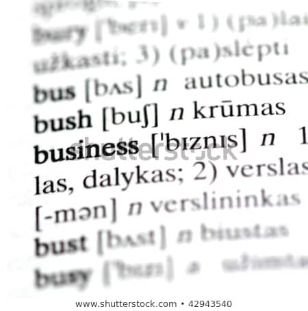 Equipe dicionário definição palavra macio foco Foto stock © chris2766