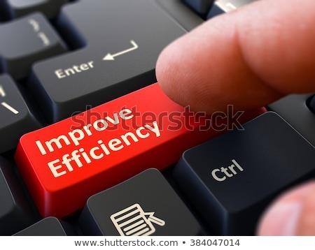 Produktiviteit Rood toetsenbord knop zwarte Stockfoto © tashatuvango