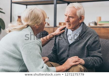 Elmebaj piros pecsét fehér egészség agy Stock fotó © chrisdorney