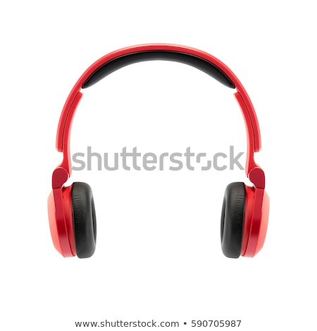Plastic stereo headphone Stock photo © dezign56