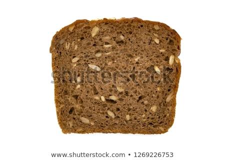 Geheel graan brood detail witte voedsel Stockfoto © milsiart