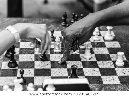 Chess chessboard in Washington Square Park NYC Stock photo © lunamarina