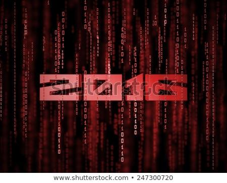 3D 2016 matrix abstract Rood nieuwjaar Stockfoto © maxmitzu