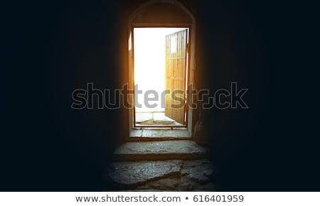 Opened door of church Stock photo © simply
