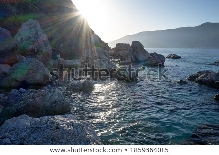Sun Over a Wilderness Beach Stock photo © wildnerdpix