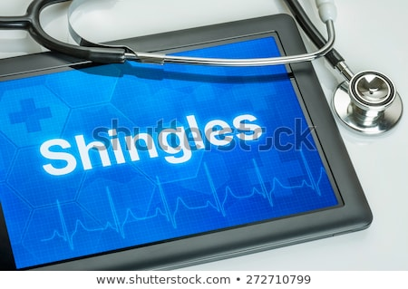 shingles diagnosis on the display of medical tablet stock photo © tashatuvango