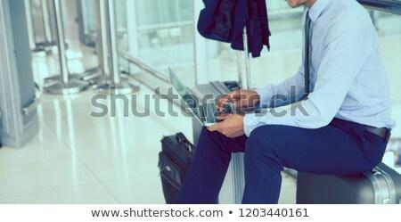 Utasok vár repülőtér tábla repülés üzlet Stock fotó © kasto