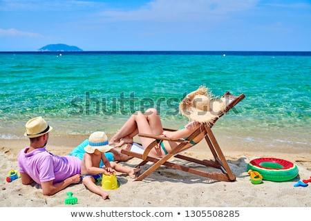 Летние каникулы Греция пляж человек карт Сток-фото © stevanovicigor