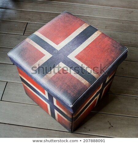Lege kruk vak Amerikaanse vlag grafische nuttig Stockfoto © art9858