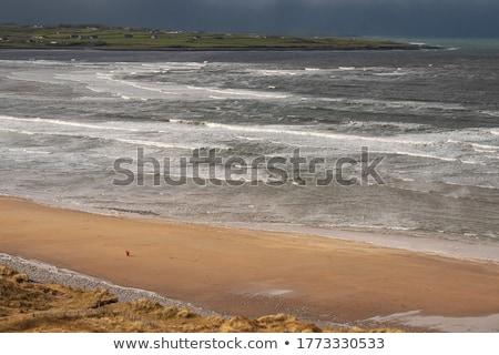 beautiful sandy beach in ireland stock photo © morrbyte