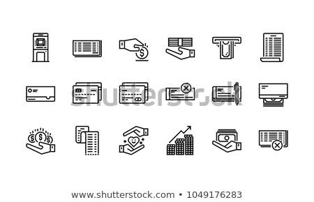 Prąd konto karty szczegóły banku paragon Zdjęcia stock © Dxinerz