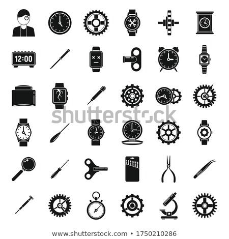 Broken smart watches simple icon on white background. Stock photo © tkacchuk