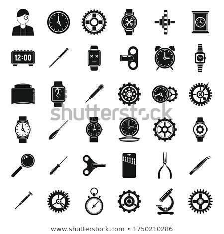 mobiele · telefoon · eenvoudige · icon · witte · teken · contact - stockfoto © tkacchuk