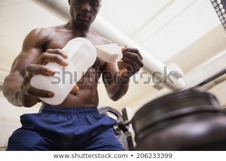 мышечный человека вверх белок черный Сток-фото © wavebreak_media