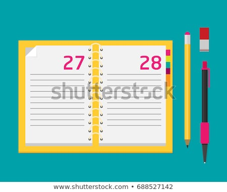 Personal organizer and pen isolated Stock photo © vtls