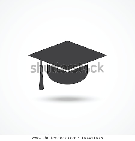 Graduation Cap Mortar Board Isolated Illustration Stock photo © enterlinedesign