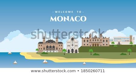 Summer travel casino postcard, vector illustration Stock photo © carodi