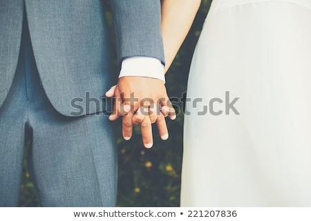 casamento · casal · beijando · mulher · família - foto stock © lightpoet
