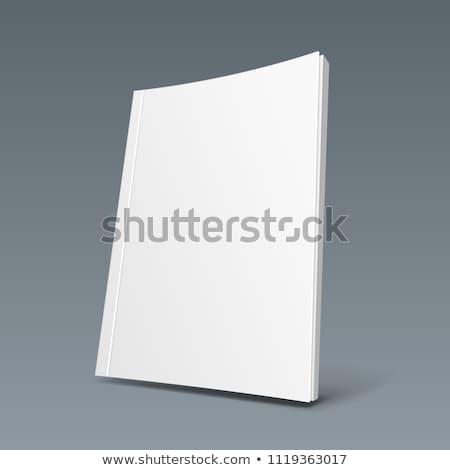gesloten · magazine · gekruld · dekken · geïsoleerd · witte - stockfoto © orensila