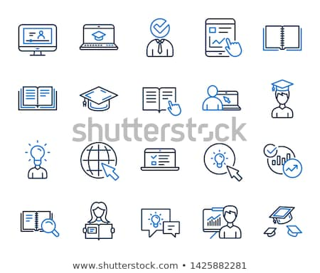 mouse sign blue vector icon design stock photo © rizwanali3d