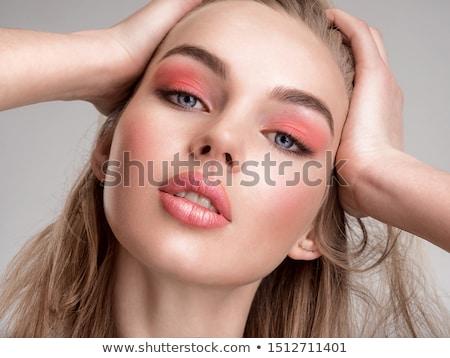 Foto stock: Retrato · bastante · feminino · modelo · posando