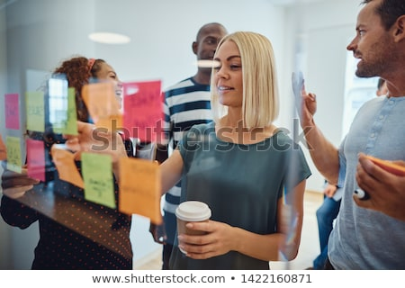 toevallig · business · team · naar · sticky · notes · kantoor · vergadering - stockfoto © wavebreak_media