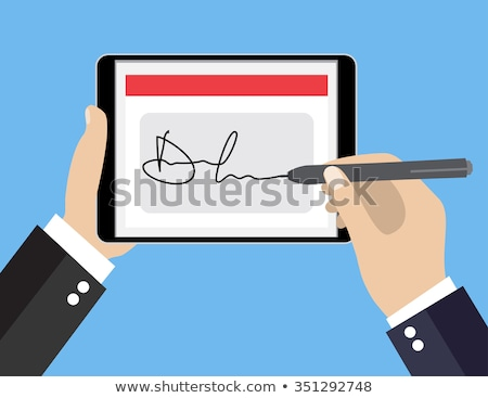 man signing a termination document Stock photo © nito