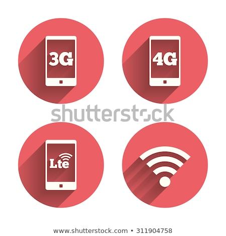 4g sign pink vector button icon stock photo © rizwanali3d