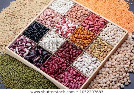 Variëteit peulvruchten presentatie groenten klein Stockfoto © Fotografiche