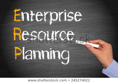 erp, enterprise resource planning on blackboard Stock photo © marinini