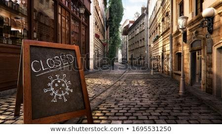 We are closed shop message board Stock photo © stevanovicigor