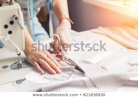 Stock photo: Professional tailor's tools for cutting and sewing
