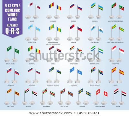 Suudi Arabistan aziz bayraklar bilmece yalıtılmış beyaz Stok fotoğraf © Istanbul2009