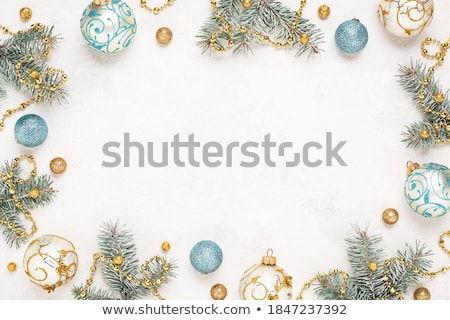 Christmas decoraties frame geschenken textuur Stockfoto © -Baks-