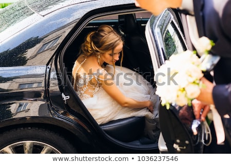 menyasszony · virágcsokor · esküvő · arc · divat · szépség - stock fotó © paha_l