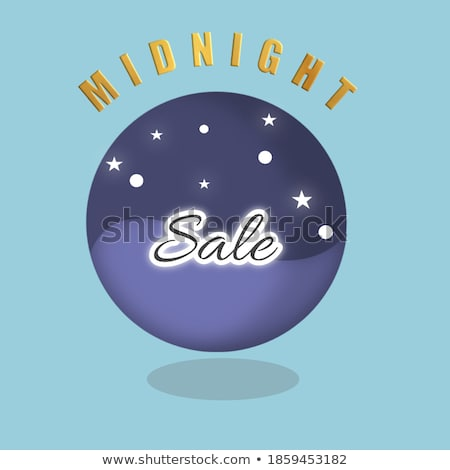 midnight offer green vector icon design stock photo © rizwanali3d