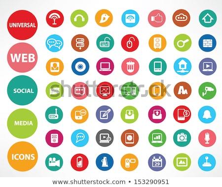 Email vektor zöld webes ikon háló digitális Stock fotó © rizwanali3d