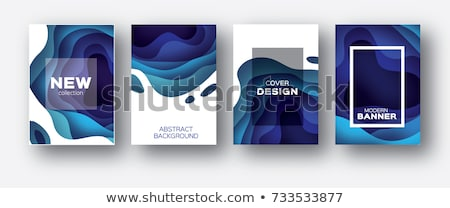 abstract blue 3d layered background stock photo © lenapix