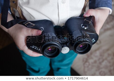 grey binoculars with strap Stock photo © Mikko