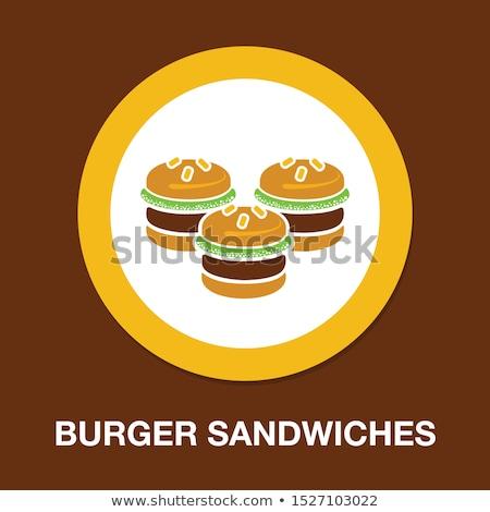 ファストフード にログイン 実例 典型的な 食事 ストックフォト © lenm
