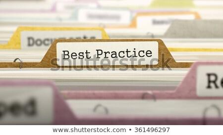 Folderze katalog najlepszy praktyka kolorowy Zdjęcia stock © tashatuvango