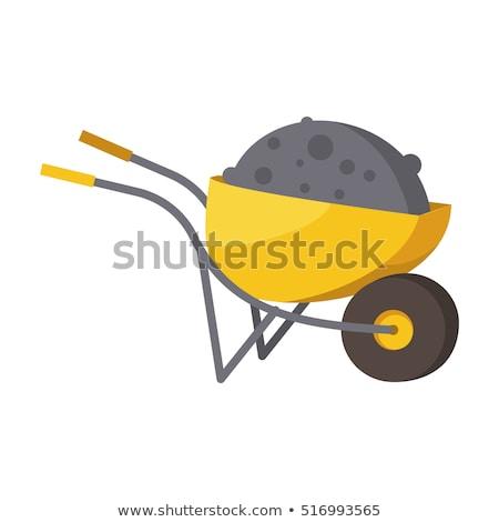 Talicska kosár ikon szimbólum illusztráció munka Stock fotó © kiddaikiddee