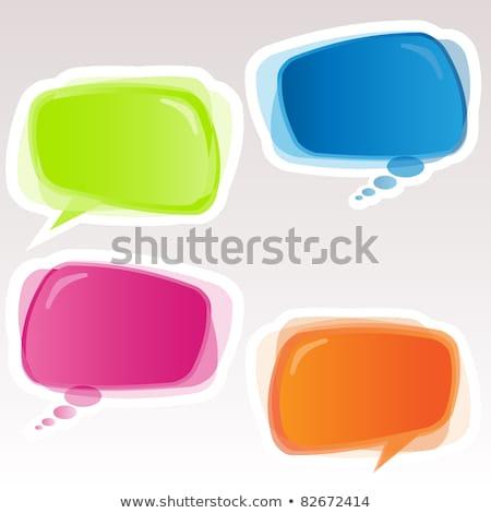 parlak · vektör · kabarcıklar · konuşma · eps · dosya - stok fotoğraf © beholdereye