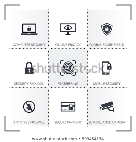 button design protection and security icons set stock photo © wad