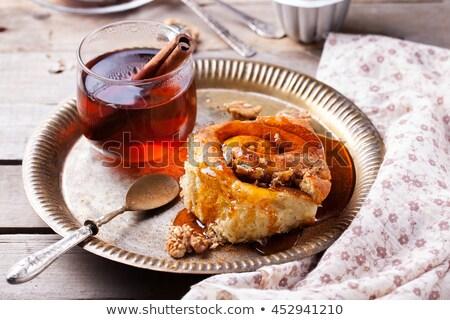 Akçaağaç şurup baharat kek dilim Stok fotoğraf © Digifoodstock