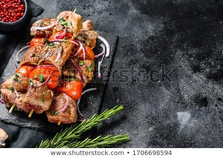 Wieprzowina kebab warzyw warzyw grill cebula Zdjęcia stock © Digifoodstock