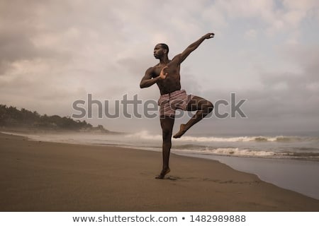 Young man training for ballet dances Stock photo © Elnur