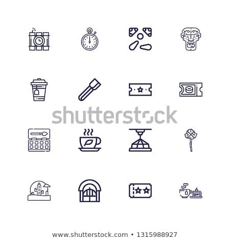 mace wild west flat icons vector illustration Stock photo © konturvid