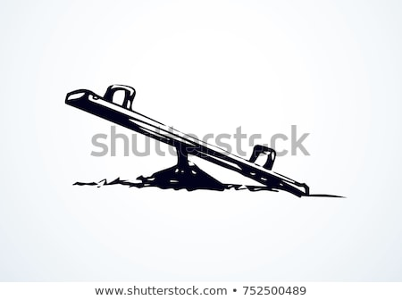 see saw on empty playground for children stock photo © stevanovicigor